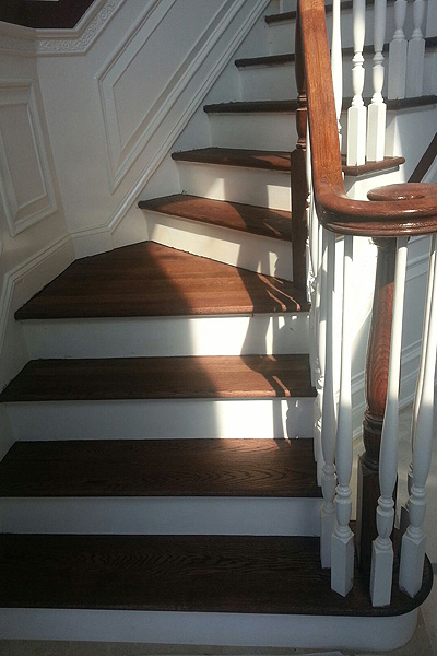 Wood Stairs and Banisters