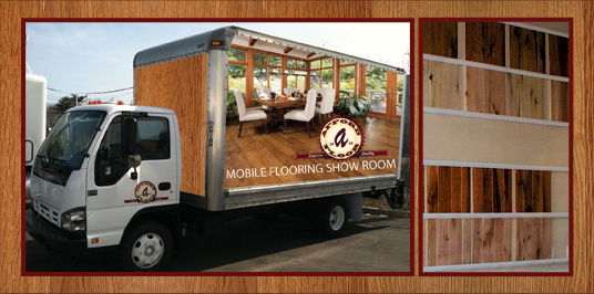 Mobile Flooring Samples Showroom